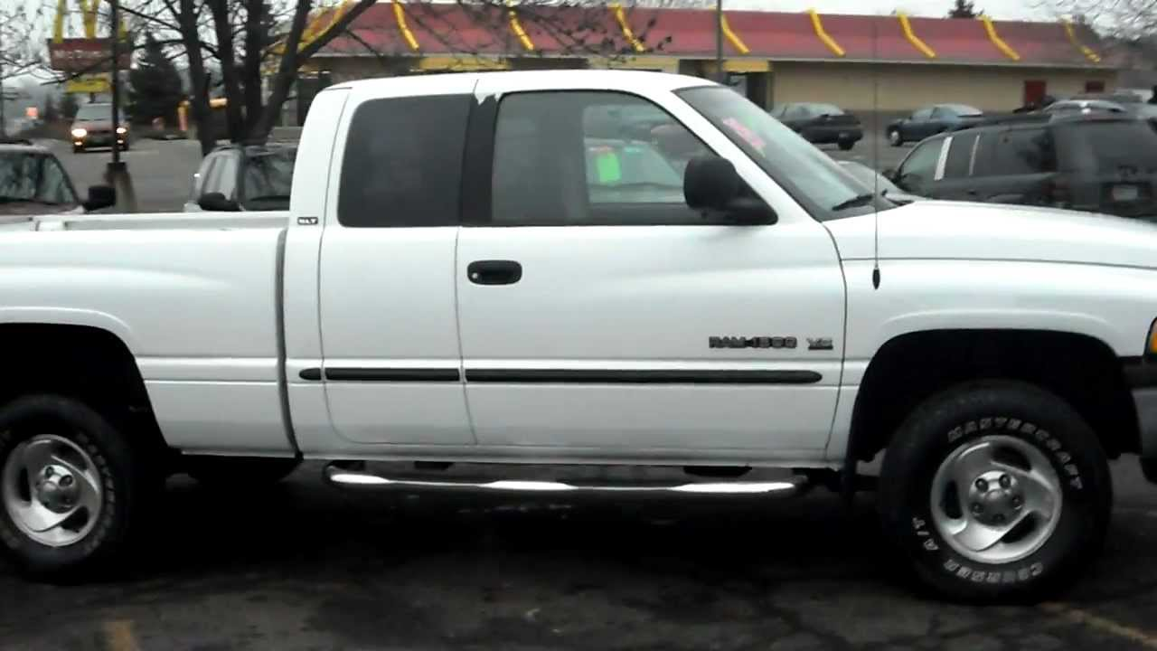 medium resolution of 2001 dodge ram 1500 slt quad cab 4dr 4x4 5 9 liter 360 v8 warranty youtube