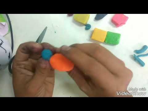 Cara mudah membuat model tiga dimensi dengan lilin mainan murah cocok untuk anak sd