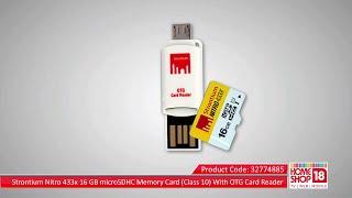 Homeshop18.com - Strontium Nitro 433x 16 GB microSDHC Memory Card (Class 10) With OTG Card Reader