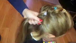 Uczesanie dla dziewczynki Prosta, efektowna fryzura do przedszkola szkoły, simple hairstyle for girl