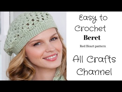 How to Crochet easy beret - (Redheart pattern LW2741 ) - Yolanda Soto Lopez