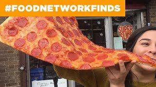 Pizza Barn's 2-FOOT Super Slice Pizza   Food Network