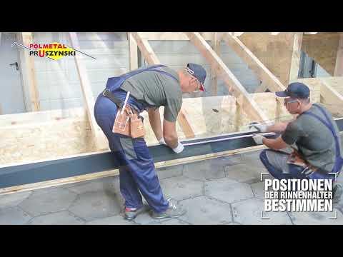 Montageanleitung für Dachpaneele mit Stehfalz  - Teil 1