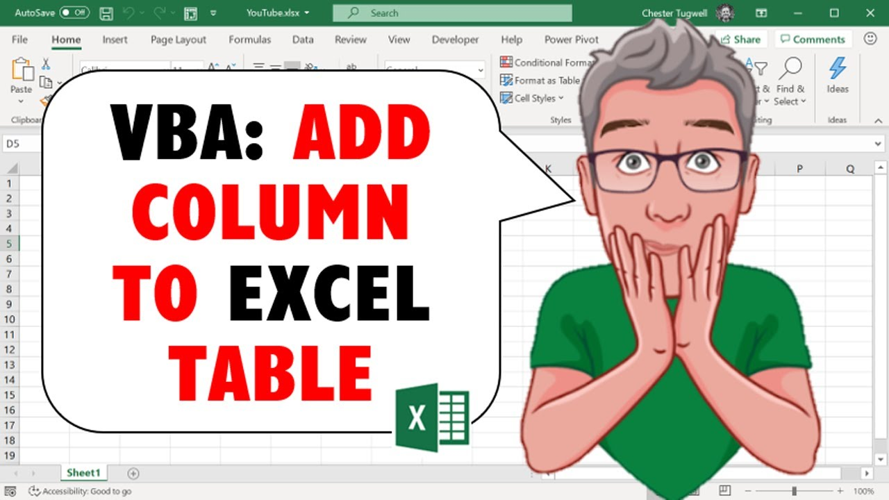 Excel VBA - How to Add Rows and Columns to Excel Table with