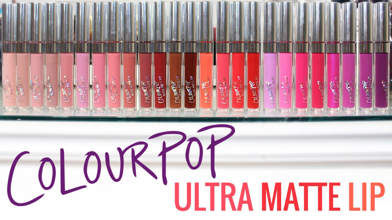 ColourPop Ultra Matte Lip Swatches YouTube