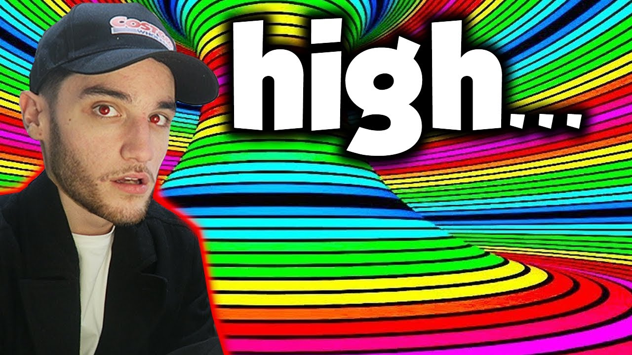 Looking at Optical Illusions While High