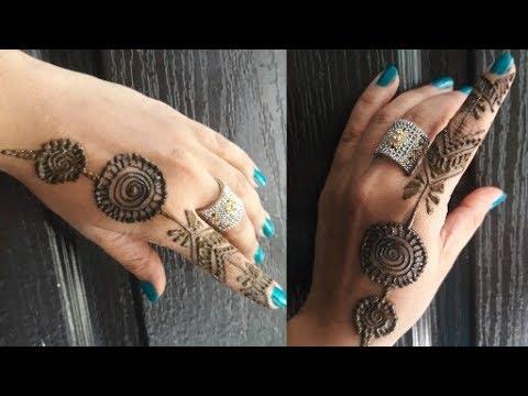 Mehndi Fingers Rating : Finger mehndi design long ring for latest