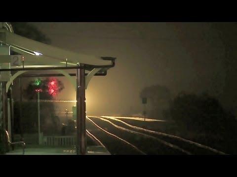 Late Night Freight Train in Victoria - Australian Railways, Railroads & Trains.
