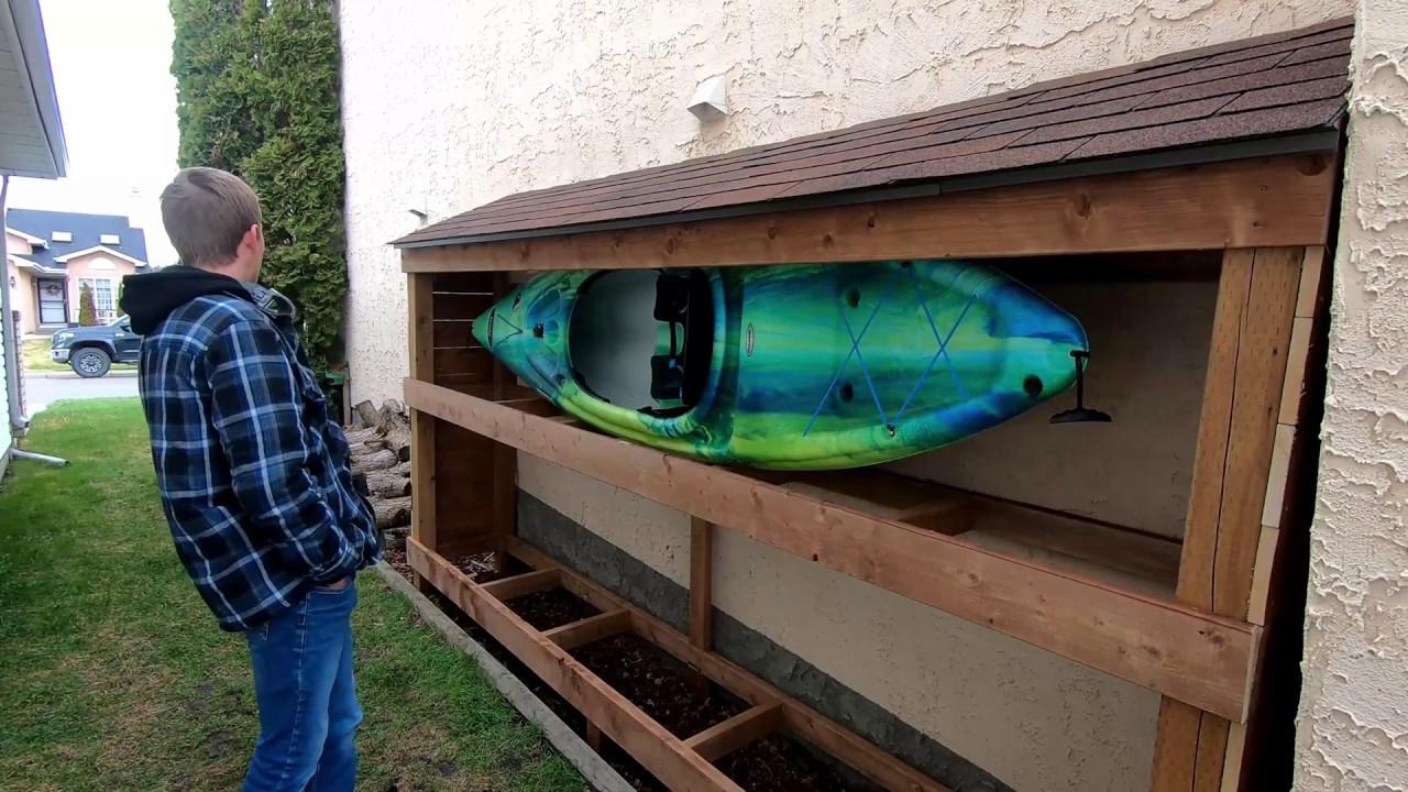 Episode 25 Season2 Building A Kayak Storage Shed Kayakfishing Anglingspiders Kayakstorage Youtube