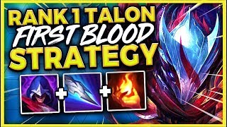 #1 TALON WORLD FREE FIRST BLOOD STRATEGY (100% SUCCESS RATE) - League of Legends