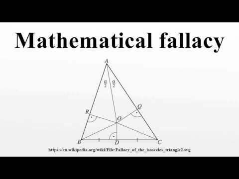 Mathematical fallacy