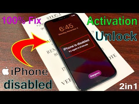 IPhone Is Disabled With Activation! Remove Without ITunes Or PC Unlock 1000% Fix IPhone/iPad/iPod