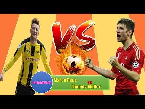 Marco Reus Vs Thomas Muller Career | Match,Goal,Assist,Award,Card,Trophy & More | Lifestyle 360