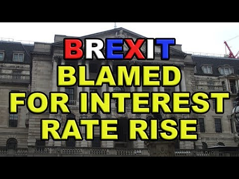 UK Interest Rate Rise Blamed on - Yes You've Guessed it!