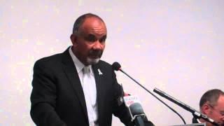 Maori Party Co-Leader Te Ururoa Flavell speaks against Trans-Pacific Partnership Agreement