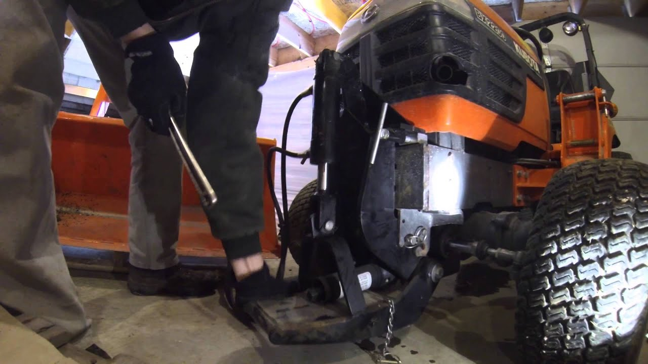 How To Mount A Bx2750d Snowblower On A Kubota Bx2200 Youtube