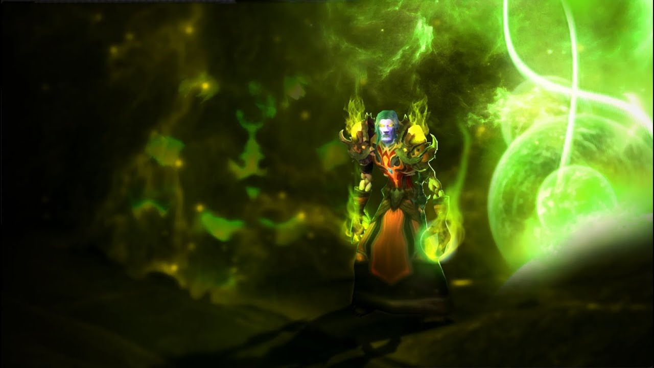 Photoshop Speed Art World Of Warcraft Warlock Custom Wallpaper