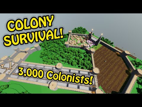 3000 COLONISTS SMASHED! - Breaking the Game! | Colony Survival Giant Castle #16