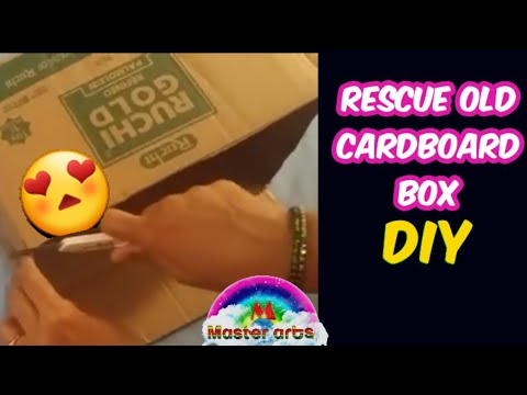 How to Rescue cardboard boxes into storage basket
