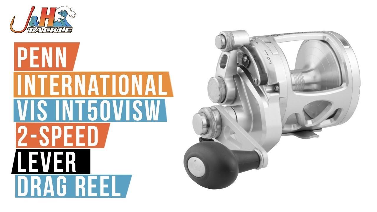 7d2c2d7e3df Penn International VIS INT50VISW 2-Speed Lever Drag Reel   J&H Tackle