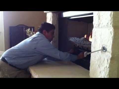 HOW START GAS FIREPLACE - YouTube