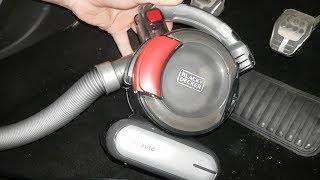 BLACK+DECKER flex auto 12V car vacuum cleaner In Action