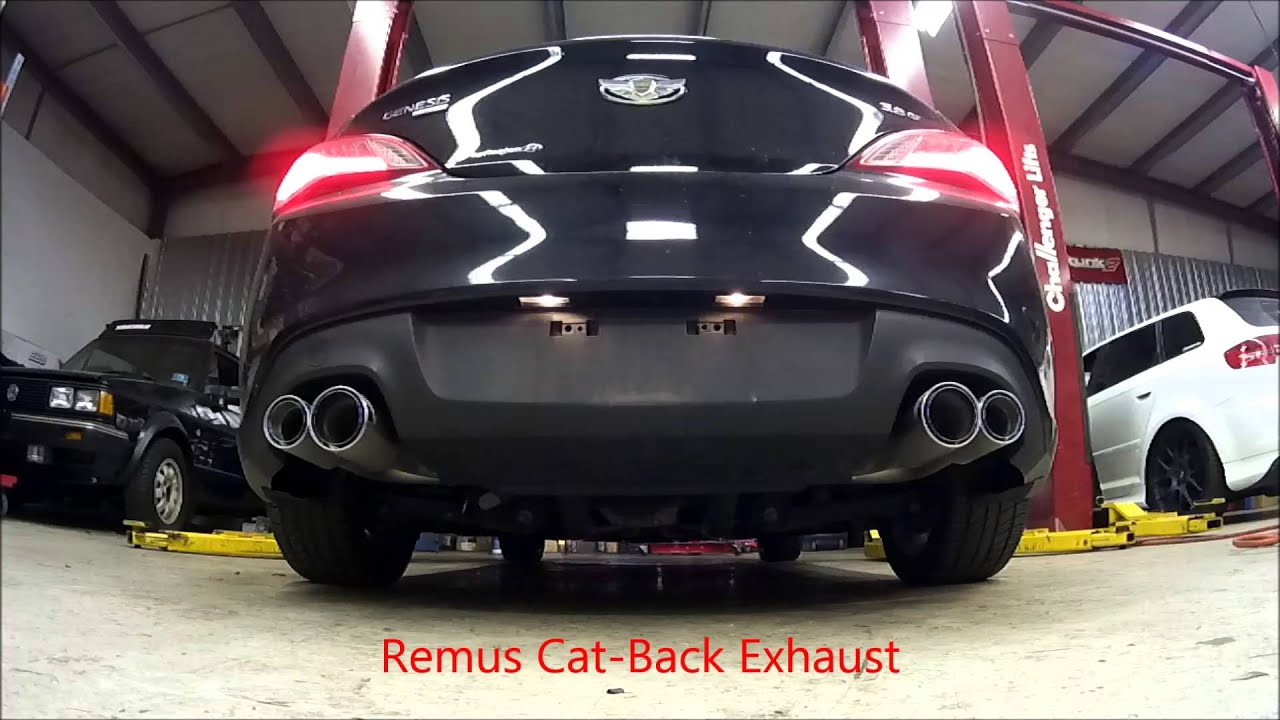 2013 genesis v6 coupe remus exhaust