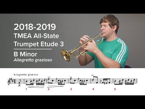 2018-2019 TMEA All-State Trumpet Etude 3 - Voxman Pg. 22, B Minor
