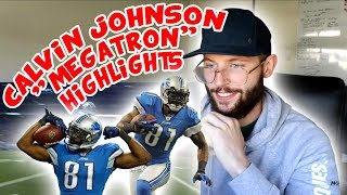 "Rugby Player Reacts to CALVIN JOHNSON ""Megatron"" NFL Career Highlights"
