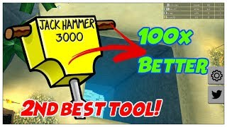 JACK HAMMER 100x BETTER THAN METAL DETECTOR! Roblox | Treasure Hunt Simulator