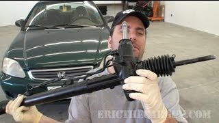 1999 Civic Power Steering Rack Replacement (Part 1) - EricTheCarGuy