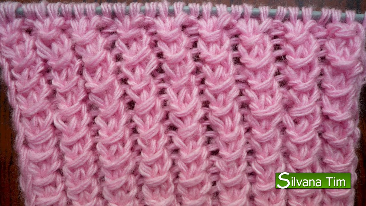 Punto puntada el stico americano tejido con dos agujas - Puntos de lana a dos agujas ...