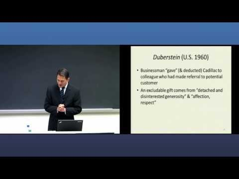 Georgetown University Law Center - Graduate Programs - Foundations of Federal Taxation - Video Clip
