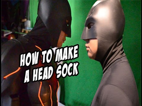 How to diy head sock for batman or dare devil mask cosplay costume how to diy head sock for batman or dare devil mask cosplay costume solutioingenieria Image collections