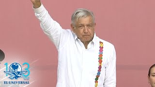 Conmemora AMLO Día de la Bandera en Chetumal