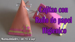 Cajita de Regalo con Rollo de Papel Higienico-manualidades(reciclaje)