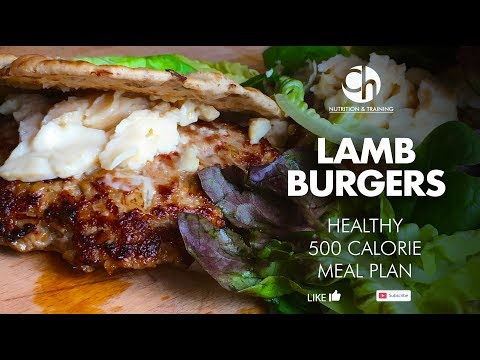 INCREDIBLY TASTY Lamb Burgers - EASY HEALTHY UNDER 500 CALORIES - MUST TRY