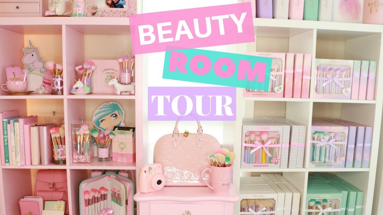 Beauty Room Tour 🦄💕 Pastel Unicorn Themed Slmissglam
