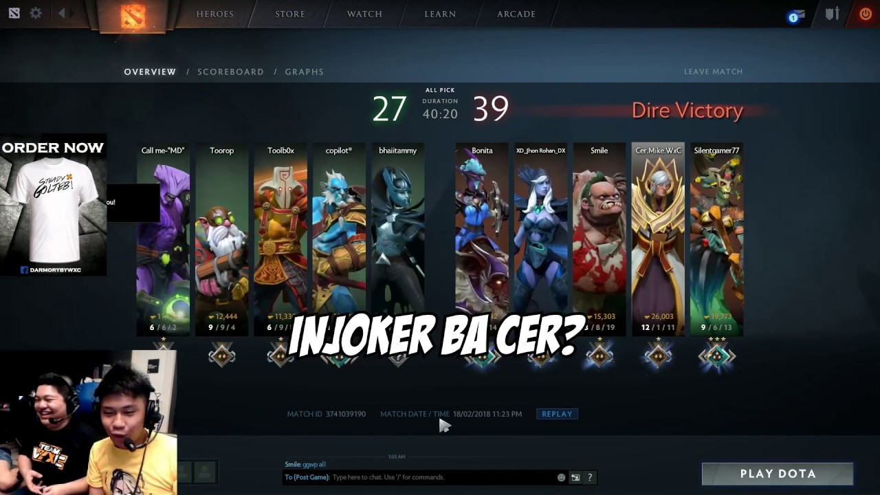 USAPANG BROKEN HEARTED | Cer.Mike.WxC Plays Invoker Version 3