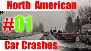 2015 - #1     North American Car Crashes Compilation