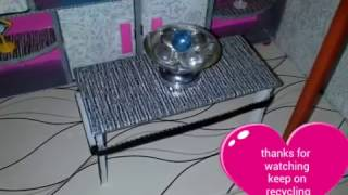 Diy Center Table For Barbie Dolls (mesa Para Sala)