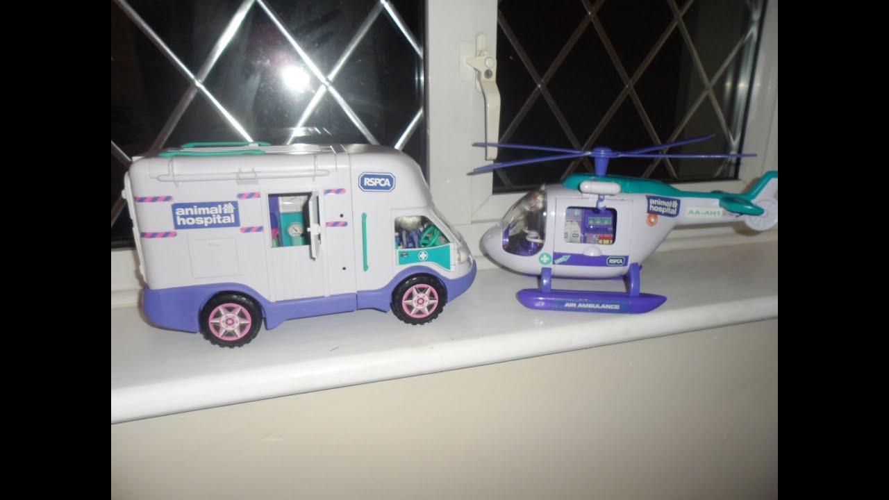 Ambulance For Sale >> ANIMAL HOSPITAL AMBULANCE & AIR AMBULANCE HELICOPTER Dickie SIMBA TOY LIGHTS & SOUNDS - YouTube