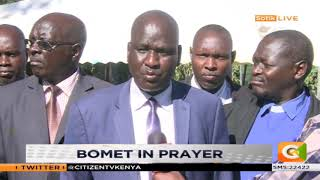 Bishops have gathered in Bomet to pray for the County