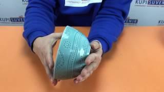 Видеообзор пиалы керамической «Аквамарин»