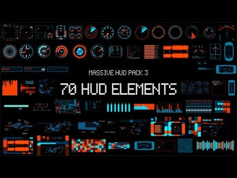 Massive HUD Pack 3 (After Effects Template)