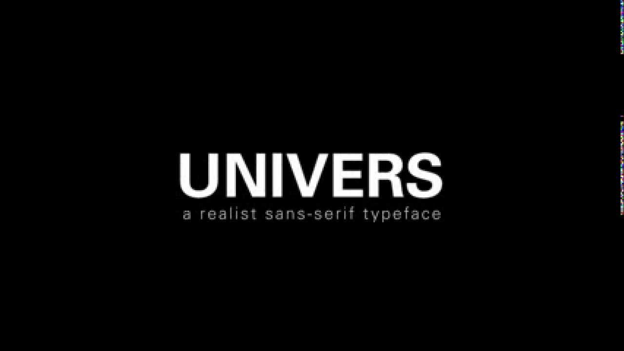 Univers : the typeface - YouTube