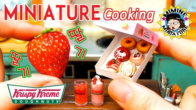 Miniature Real Cooking - Strawberry donut / miminemini