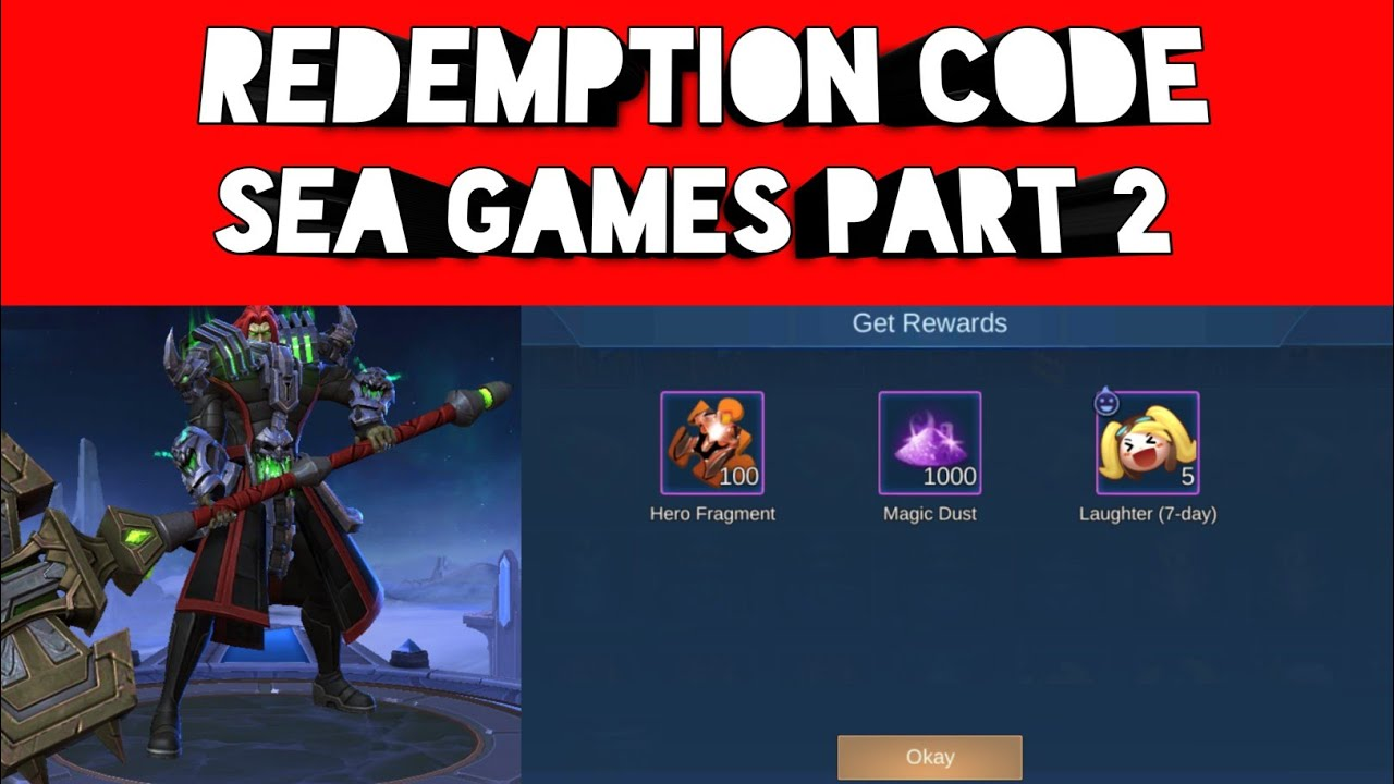 REDEMPTION CODE | SEA GAMES PART 2 - YouTube