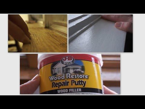 Repair Wood Trim Cat Scratches using Wood Filler