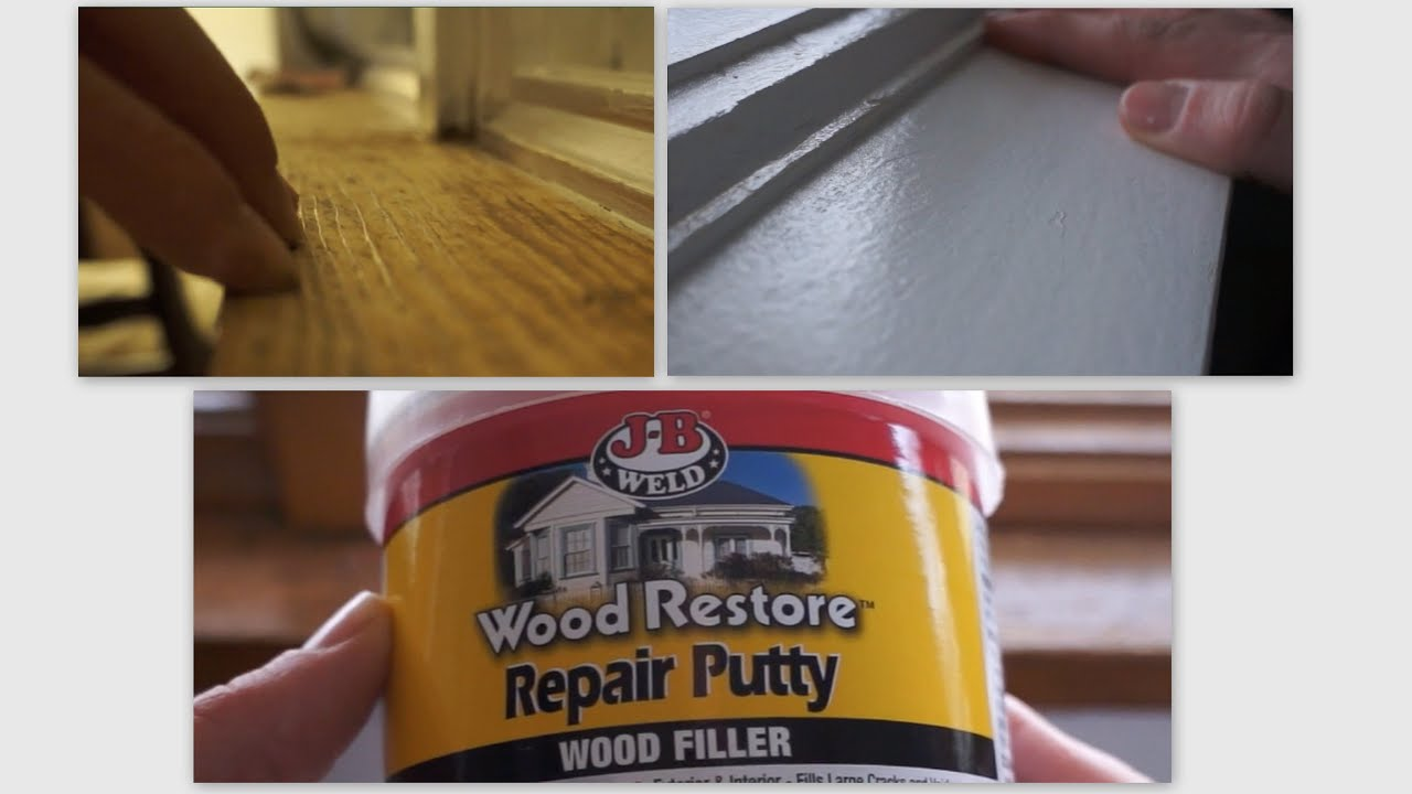 Repair Wood Trim Cat Scratches Using Wood Filler Youtube